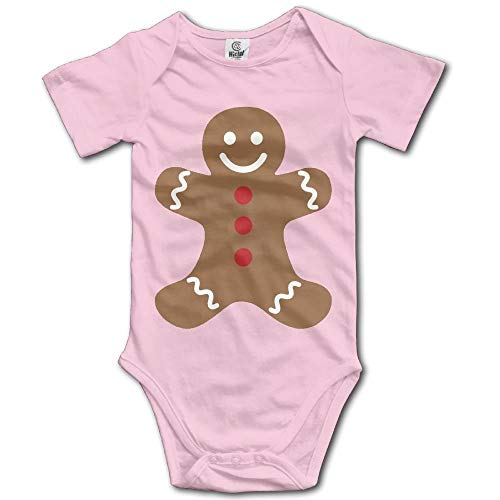 TRUIOKO Baby Bodysuit,Gingerbread Man Merry Christmas Graphic Newborn Babys 0-24 Months Baby Climbing Clothing Baby Creeper for Baba - 1. Christmas Infant Creeper