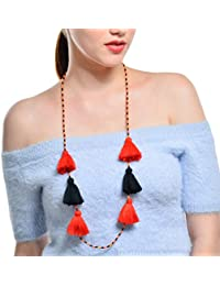 6c23a72e01dc CTRCHUJIAN Cadena de los Granos del Estilo Collar Pendiente de la Borla de  Las Mujeres Accesorios