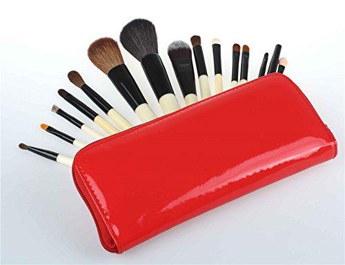 RoseFlower Professionnel 15 Pcs Pinceaux Maquillage Trousse - Pro Make Up Cosmétique Brosse / Brushes Kit Pour Visage Blending Fondation Blush Eyeliner Poudre
