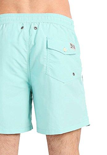 Polo Ralph Lauren Herren Badeshort, Traveler Swimshort, Unifarben mit Logo-Stick: Farbe: Hellblau | Größe: XXL (Gr. XX-Large)