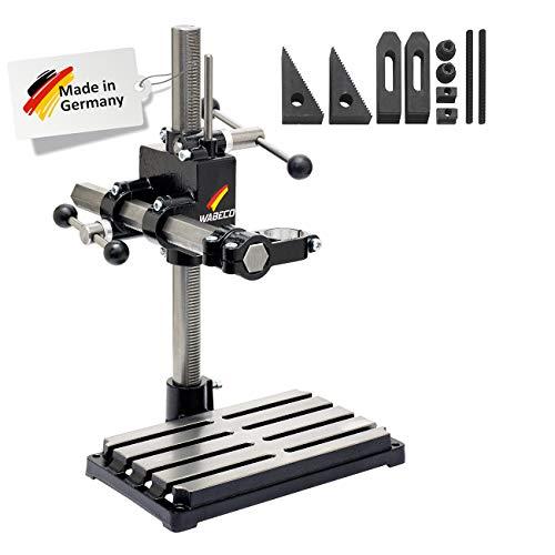 WABECO Bohrständer Fräsständer BF1240 vertikal/horizontal Säule 500 Ausleger 350 mm mit Spannpratzen Satz 10-teilig