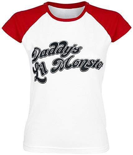 Escuadrón Suicida Harley Quinn - Daddy's Little Monster Camiseta Mujer rojo-blanco S