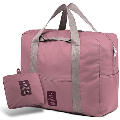 SPAHER Bolsa de Equipaje Bolsas de Viaje Plegable Duffle Bag Ligero Impermeable Organizador de Hombro...