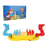 Image for board game Tnfeeon Educational Desktop Game Toy, Submarine Hegemony Board Game Children Interactive Battle Catapult Board Game Sea Animals Shooting Machine Toy