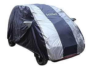 AmazonBrand - Solimo Tata Nano Water Resistant Car Cover (Dark Blue & Silver)