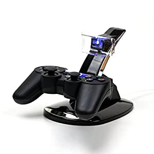 MP power @ Doppio Caricabatterie Station Dock supporto basetta base stazione di ricarica per Sony Playstation 3 PS3 ps 3 Controller gamepad joypad