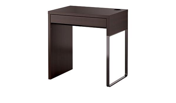 Ikea micke desk brun noir cm amazon kitchen home