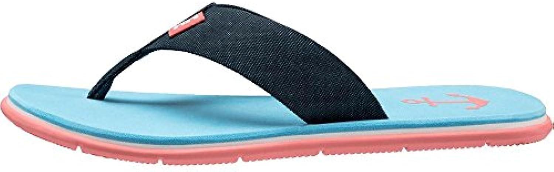Helly Hansen W Seasand HP, Zapatos de Playa y Piscina para Mujer, Multicolor (Navy/Aqua Blue/Shellp 597), 39 EU