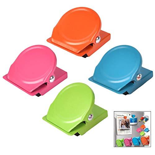 iwobi 16 Stück Farben Metall Magnete Klammer Kühlschrankmagnete Clips für Kühlschrank, Tafel, Büro, Küche