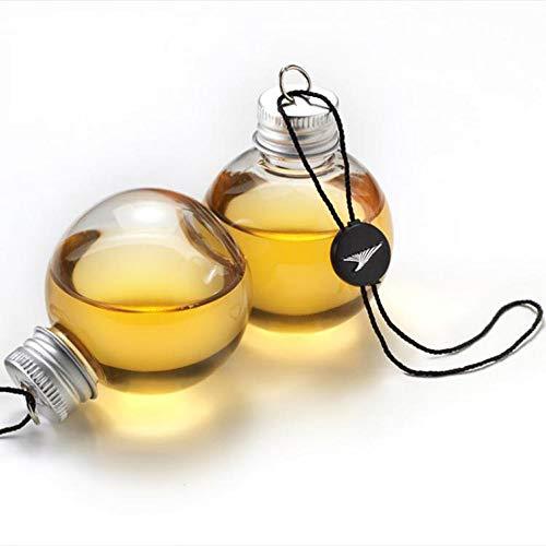 TianranRT 6 Packung Schnaps gefüllt Weihnachten Baum Ornamente Wasser Flasche Milch Saft Zwiebeln Tasse (klar,150ml)