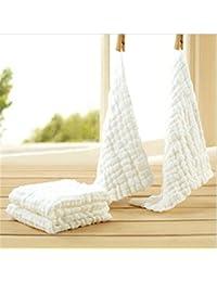 Affe 30 x 30 cm 3pcs/lot 100% algodón toalla para bebé 6 capas gasa de lavado suave cuadrado Toallas de bebés