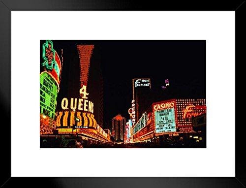 Poster Gießerei Vintage Neon Signs of Fremont Street Las Vegas Nevada Foto Kunstdruck von proframes Antik 26x20 inches Matted Framed Poster (Las Vegas Sign Poster)