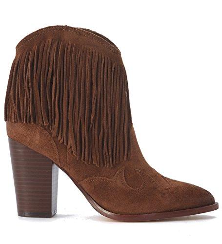 Demi-botte texan avec talon Sam Edelman Benjie en chamois marron cuir