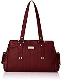 Fantosy Three Partition Women's Handbag (FNB-124, Maroon)