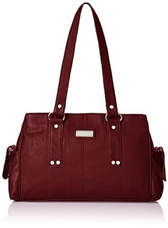 Fantosy Three Partition Women's Handbag (FNB-124, Maroon): Amazon ...