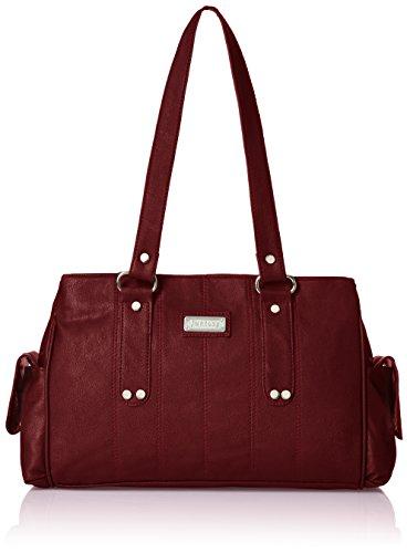 Fantosy Three Partition Women\'s Handbag (FNB-124, Maroon)