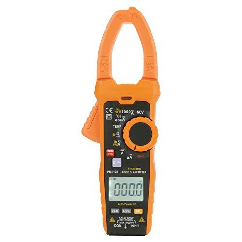 PEAKMETER Pinza Amperometrica PM2128 Clampometro Digitale AC/DC Corrente di Tensione Clamp Meter Resistenza Capacità - 6000 Cifre LCD Display - Funzione di Rilevamento Tensione Senza Contatto NVC
