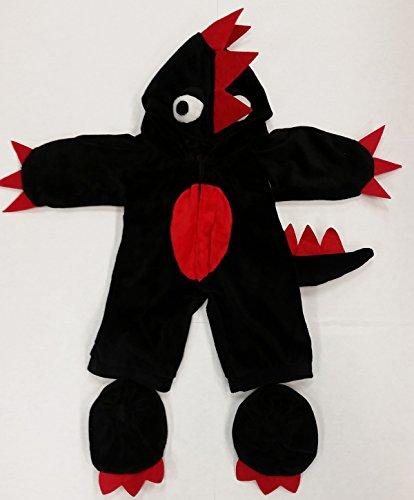 Kostüm Unter Bett Monster Dem - Stuffems Toy Shop Schwarz / Rot Monster-Kostüm-Teddybär-Kleidung paßt die meist 14