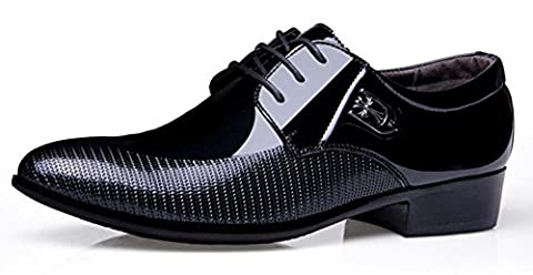 HYLM New Men's Business Casual Chaussures en cuir Pointed Lace / Wedding Shoes Chaussures de grande taille , black , 38