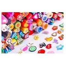 50 piezas de arte de uñas Pegatinas Calcomanías Canes Vara Fimo Decora + HOJA + COLA por Boolavard® TM