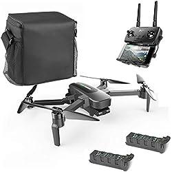 Hubsan Zino Pro GPS FPV Pliable Drone 4K Caméra avec 3-Axes Gimbal 4KM 23 Minutes WiFi APP Contrôle (Version Portable)