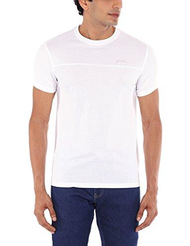 Lee Men's Cotton Round Neck T-Shirt (8907222032272_LETS7538_Medium_White)