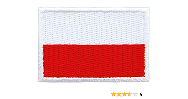Polen Flagge Klein Poland Polska Aufnäher Bügelbild Größe 4 5 X 3 0 Cm Auto