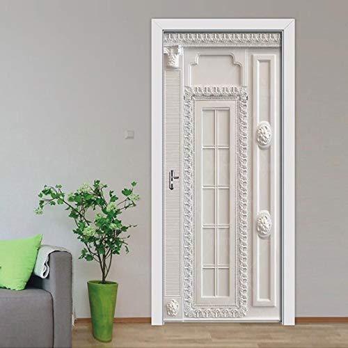 Türaufkleber 3D Europäische Stereo Grenze Muster Wandbild Selbstklebende Tapete Poster Wohnzimmer Schlafzimmer Tür Decor Decals 77 * 200cm