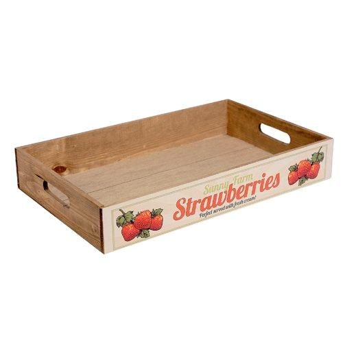 Bandeja madera Fresh orchard Strawberries