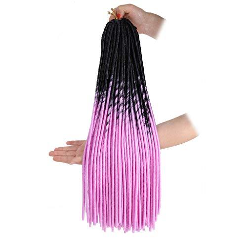 Rifuli® Perrücke Mode-hübsche Frauen-Mädchen-Steigungsfarben-Torsions-Häkelarbeit-Zopf-Erweiterungs-Perücken 90er/80er jahre perücken