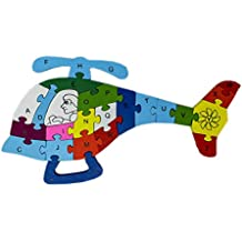 Tootpado Alphabet and Number Wooden Jigsaw Puzzle - Helicopter (1TNG275)