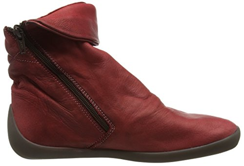 Softinos NAT332SOF washed, Bottes Classiques femme Rouge écarlate