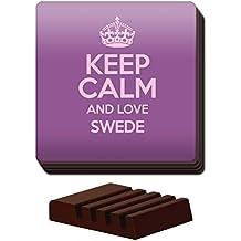 Morado juego de 4posavasos de Keep Calm And Love sueco de color 3034