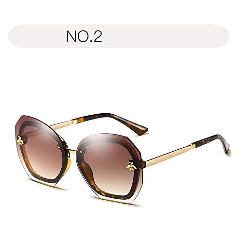 XHCP Frauen polarisierte Klassische Flieger-Sonnenbrille, Sonnenbrille für Frauen verdünnen 100% UVschutz 400 Schutz, der Gläser im Freien fährt (Farbe: NO.2, Größe: Freie Größe)