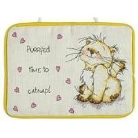 Solo il gatto Catnapping porta-Kit per punto croce, motivo: Anchor