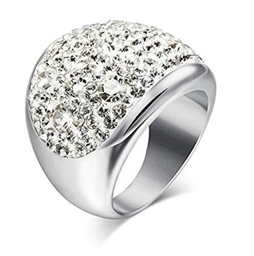 SonMo Ring 925 Vintage Damen Trauringe Paarringe Verlobungsring Eingelegt Weiß Trauringe Liebe Hoch Zwei Zirkonia für Frauen 60 (19.1)