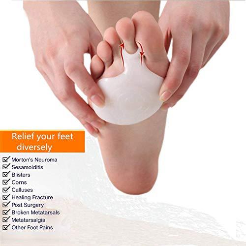 YENJOS 1 Paar Fußkissen Metatarsal Pad Set, Silikon weiß neue Anti-Rutsch-Vorfußkissen Dämpfung, Gel Fuß Kissen, um Schmerzen zu lindern