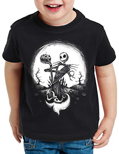 (CottonCloud Jack Skellington T-Shirt für Kinder Christmas Before Nightmare, Größe:116)