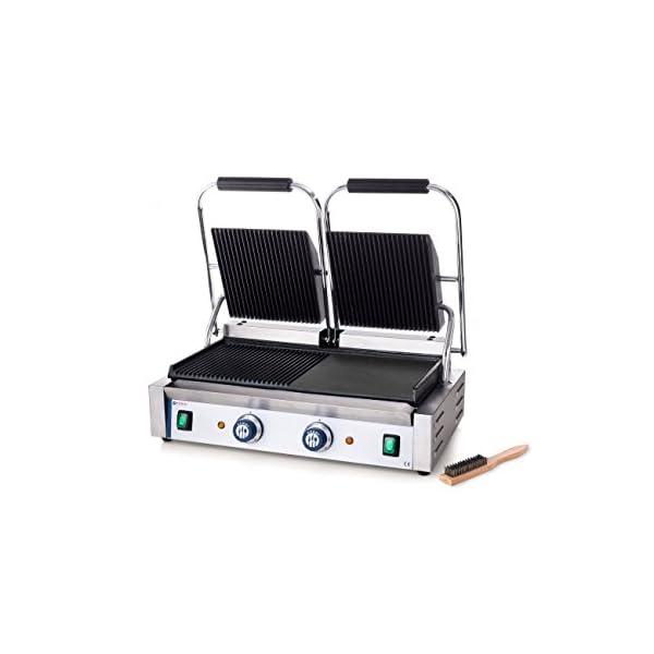Profi Gastronomie Multifunktions glatt KG2735G Kontaktgrill Toaster gerillt