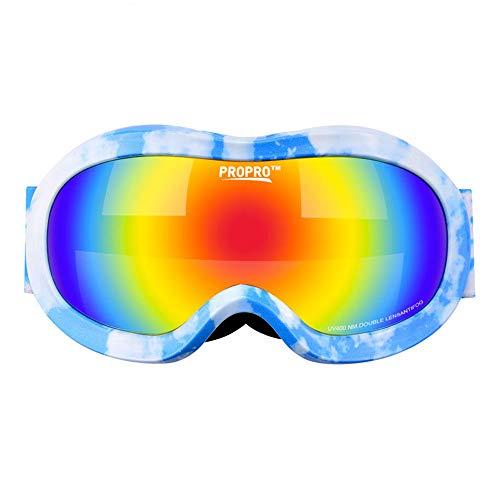 Dfghbn Rennbrille Dirt Bike Kinderskibrille Transparente Brille Kletterbrille Doppelbrille...