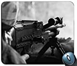 Maschinenpistole in der Kriegs-Muster-Mausunterlage, Gedruckter Rutschfester Gummi-Bequeme kundengebundene Computer-Mausunterlage Mausunterlage Mousepad