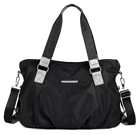 DCCN Grand Sac porté épaule Imperméable Nylon pour femmes et filles/ Homme, Sacs à Main Cabas Sac Bandoulière pour Loisirs Course