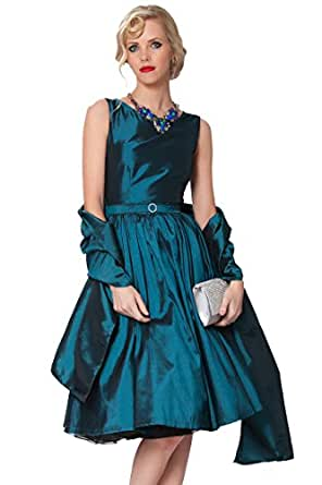 Beautiful Silky Taffeta Shawl/Wrap with silver beading in several colours suitable for any evening dress - Taffeta Shawl(Teal,39T)