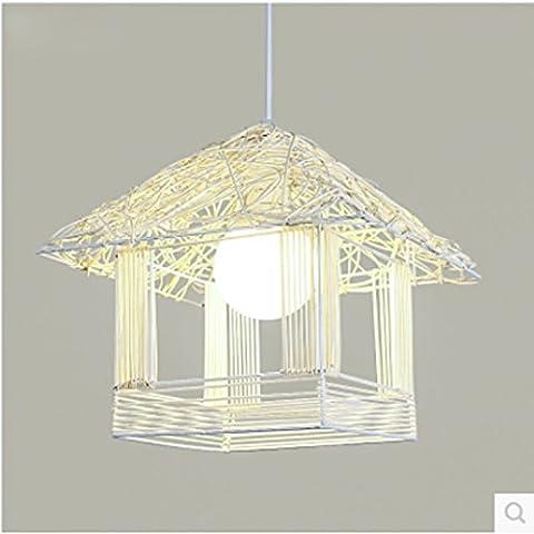 Birdcage semplice lampadario personalit¨¤ creativa arte del rattan xuanguan ristorante
