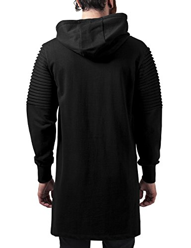 Urban Classics Herren Kapuzenpullover Pleat Sleeves Terry Hilo Hoody Schwarz (Black 7)