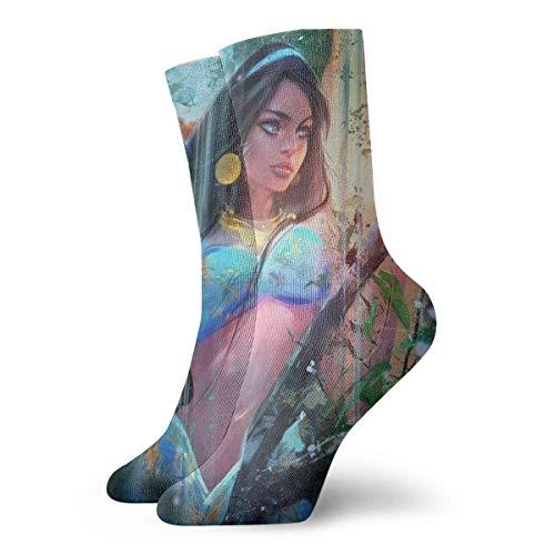 deyhfef Short Socks Crew Sock Hunter Women 3D Printed Sport Athletic Socks 30cm Long Socks - Womens Lady Hunter 8