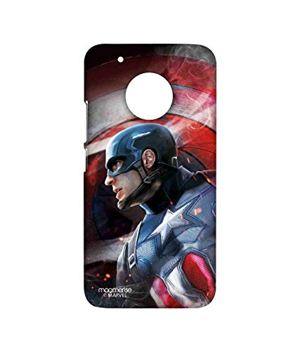 Macmerise Licensed Marvel Comics Captain America Premium Printed Back cover Case for Moto G5 Plus