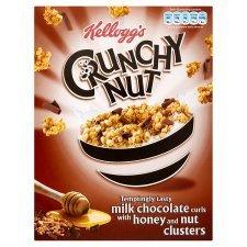Kellogg's Crunchy Nut Chocolate Curls Honey & Nut Clusters 450G -