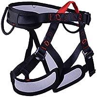 LLXYM Media Longitud Escalada Cinturón De Seguridad Fuego Rescate Roca Escalada Rappel Cueva para Proteger El Cuerpo Entero Cinturón,Black,OneSize