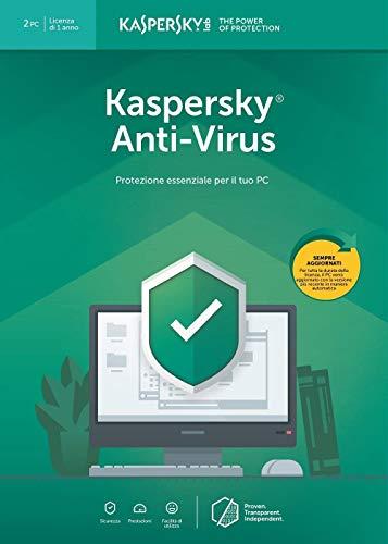 Kaspersky Antivirus 2019 - 2 Pc Licenza 12 mesi
